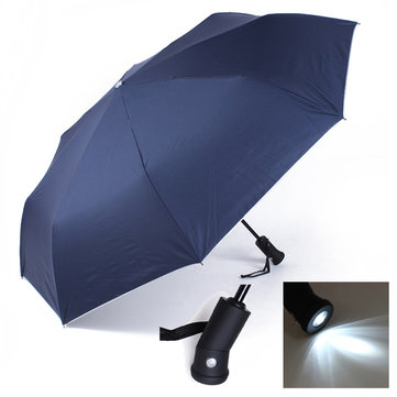 LED light Torch Automatic Sun Rain Anti-UV Outdoor Umbrellas
