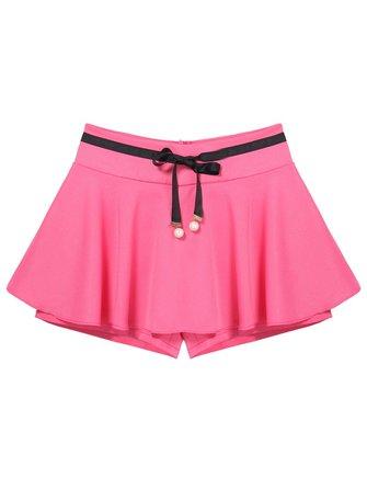 La jupe de feuille de lotus bousille la jupe bottoming les jupes de short de jupe-culotte