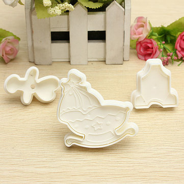 3D Baby Kids Series Cake Cup Cake Cookie Cutter Set