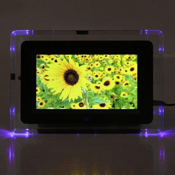 7 pollici tft-lcd mp3 di film di struttura di fotografia digitale mp4 lampo di luce di giocatore