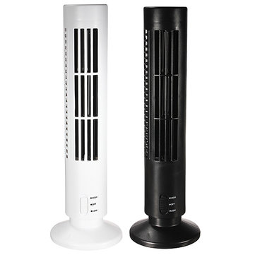 Portable USB Mini Bladeless No Leaf Air Conditioner Cooling Tower Fan