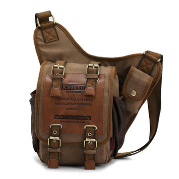 Men Retro Canvas Travel Shoulder Bags Recreation Messenger Bag ...