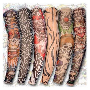 Tatuaggio braccio festa di halloween in bicicletta di gamba maniche sole protezione