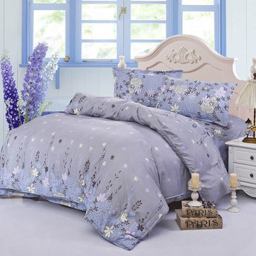 4pcs Suit Polyester Fiber Purple Rosemary Reactive Dyeing Bedding Sets