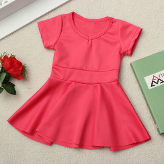 Baby Girls Party Dress Princess Short Sleeve Pageant Gown Skirt