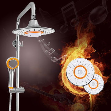 Bathroom Music Phone Top Shower Head With Bluetooth Speaker