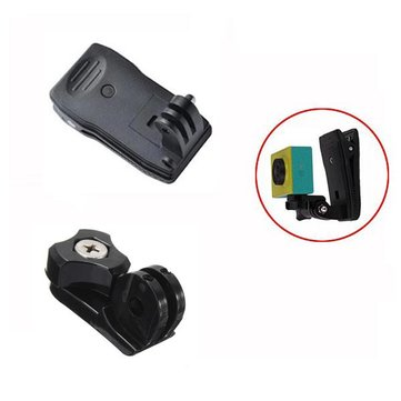 360 Degree Rotary Strap Belt Clip With 1/4 Inch Bridge Connector For GoPro Xiaomi Yi SJcam