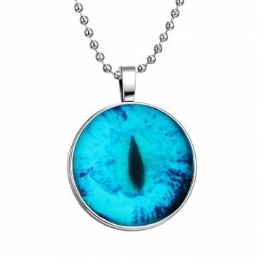 Старинные ювелирные изделия дракон кошачий глаз цепи из нержавеющей стали ожерелье светящийся