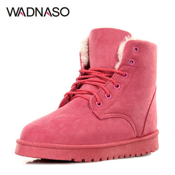 WADNASO New Women Winter Keep Warm Suede Cotton Comfortable Ankle & Short Snow Boots