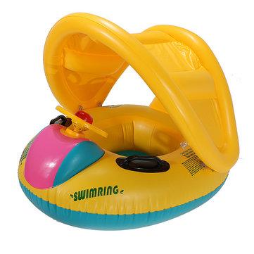 Регулируемый навес ребенка плавать поплавок сиденье лодки надувные кольца